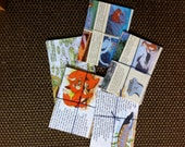 Handmade envelope bundle made from recycled 90's issues of Animals of Farthing Wood magazines ideal for letter writers and penpals