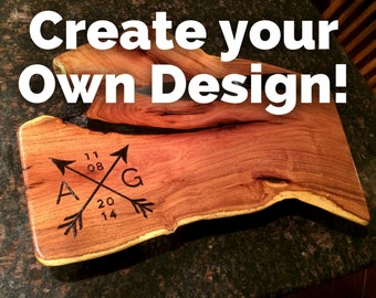 Recipe cutting board create your own design hand by for Make your own chopping board