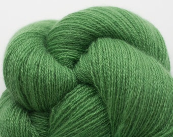Lace Weight Recycled Cashmere Yarn, Fern Green Recycled Cashmere, 3286 Yards Available