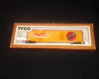 vintage ho toy train car tyco coca cola coke railroad setup