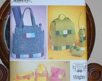 Simplicity Pattern, Pattern 5320, Simplicity Accessories, 7 Styles, Handbag, Backpack, Fanny Pack, Bottle Bag,  New and Unused