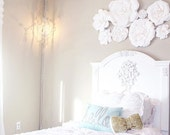Paper Flowers Wall Decor - Wedding Decor - Home Decor - Nursery Decor - Paper Flower Backdrop - Paper Flowers - Photo Shoot - Backdrop