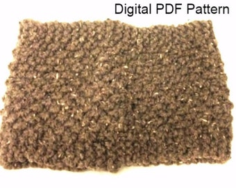 Claire's Cowl Style PDF Knitting Pattern Chunky Cowl  Circular Scarf Winter Scarf Neck Warmer Not a finished product