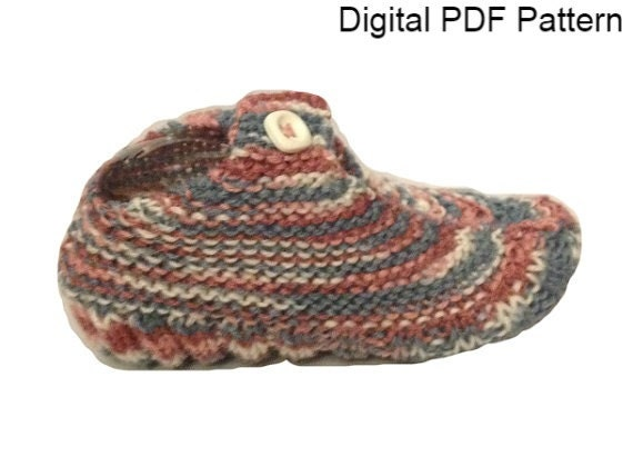 One Size Travel Pocket Slipper Socks 2 Knitting PDF Pattern