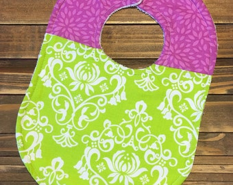 Girl Baby Bib Shabby Chic Baby Shower Gift