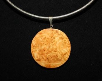 Burl Wood Necklace/Pendant/Slide