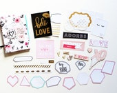 4x6 Hello Love Pink Floral Valentine's Day Anniversary Gift Minibook Mini Album Scrapbook Kit Journal Crate Paper
