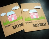 Reserved for Mary Jane, 10 Housewarming Cards, Congratulations on your New Home Card, New Homeowners Card
