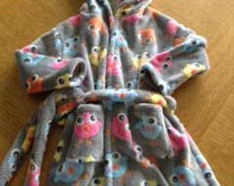 NEW Child's Bathrobe- sizes 12 months - 10 years-  PDF being pattern