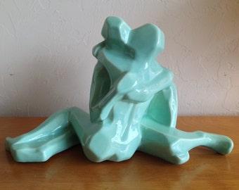 Jaru Lovers Embrace Cubist Ceramic Sculpture