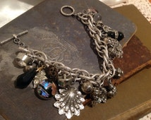 Vintage/Antique Upcycled Recycled Assemblage Charm Bracelet