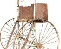 C. 30s Rusty Iron Welding Cart with Multi-Use as Industrial Bar Cart or Garden Cart