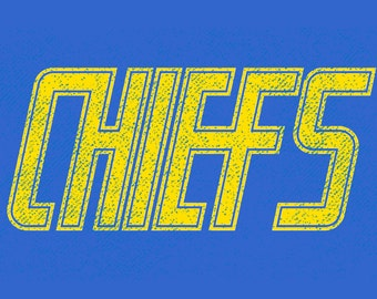 Charlestown Chiefs Limited Edition Hockey T-Shirt From Slap Shot Hanson - Free Shipping