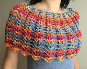 Crochet Cape / Crochet Summer Capelet / Lace Capelet / Summer Capelet / Summer Wear / memorial day sale