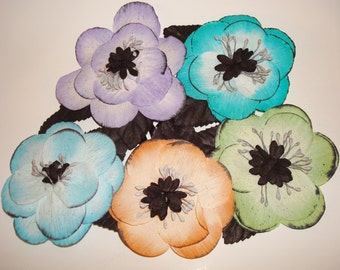 Large Flower Hair Clips