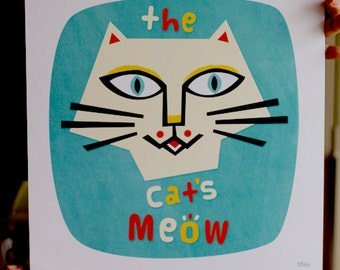 The Cats Meow giclee print Cat picture