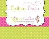 Custom listing for Vanesa