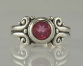 R1000- Sterling Silver Blush Topaz Ring- One of a Kind