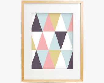 Marlowe - abstract triangle pattern art print