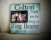 Ring Bearer Thank You Gift, Thank you for being our Ring Bearer, 12x12 Groomsmen Gift, Personalized Ring Bearer Gift