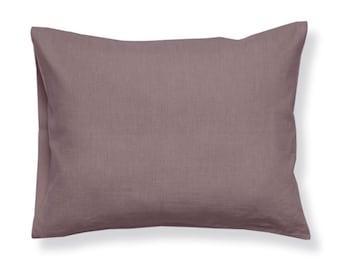 Soft linen pillowcase, Natural pillowcases, Light purple pillowcase, King pillowcases, Euro shams, standard linen pillow cases