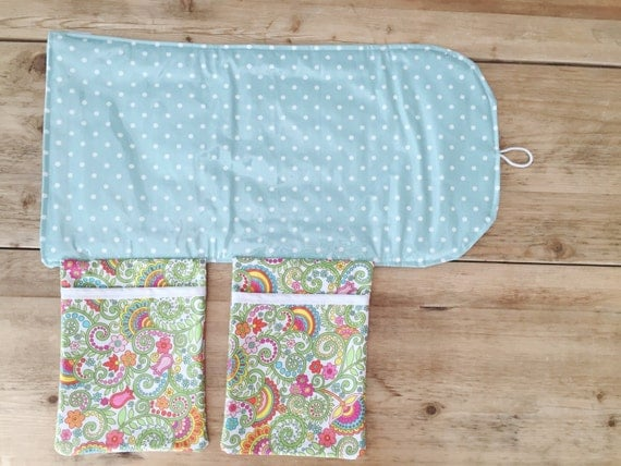 diaper changing pad diapering on the go pale blue by izyandoly. Black Bedroom Furniture Sets. Home Design Ideas