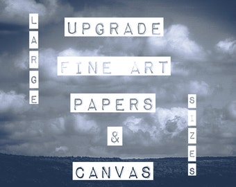 UPGRADE: SeLEcT FiNE aRT PaPeRS & CaNvAS, *LARGE* Sizes
