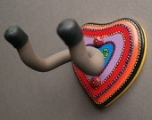 Instrument Wall Hanger Hook for Ukulele, Fiddle, Mandolin, Violin or Guitar - Ready to Ship - Rainbow Power