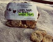 Mini Wheat Free Apple Bites - Dog Treats - All Natural - Now  4 dozen mini treats per bag - Gluten Free