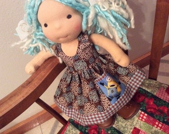 "Waldorf doll clothes for 10-12"" slim, Minions"