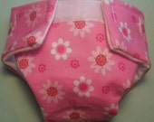Ready to Ship #3 cloth Doll diaper pink daisy garden adjusts washable fit cabbage patch bitty baby fur real monkey stuffed animals more doll