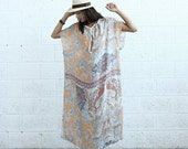 SALE + Final SALE ***** Paisley Kaftan Dress - Silk