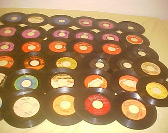 "45 rpm lot of 35 7"" Rare Northern Soul Funk vintage 70s vinyl records"