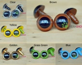20mm Colorful Safety Eyes Plastic Doll Eyes - Clear / White / Yellow / Golden / Grass Green / Blue / Brown