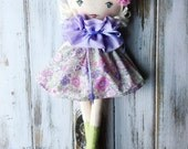 Maeve ~ SpunCandy Classic Doll, Heirloom Quality Doll, Modern Rag Doll, Nursery Decor, Kids Decor, Fabric Doll, Cloth Doll, HandmadeDoll