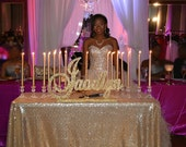 Quinceanera, Sweet 16 candelabra name large-Custom wood name, Nursery, birthday, centerpiece