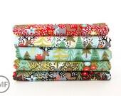 Juniper Berry Reindeer Games Fat Quarter Bundle, 5 Pieces, BasicGrey, 100% Cotton, Moda Fabrics, 30430