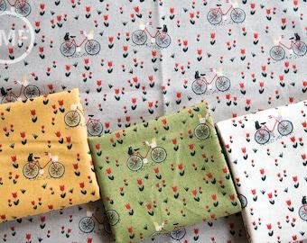 Mon Ami Bicyclette Half Yard Bundle, 4 Pieces, BasicGrey, 100% Cotton, Moda Fabrics, 30413