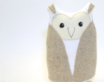 Harold the Owl, recycled owl, owl, woodland toy, owl nursery, nursery, woodland nursery, owl plush, eco owl