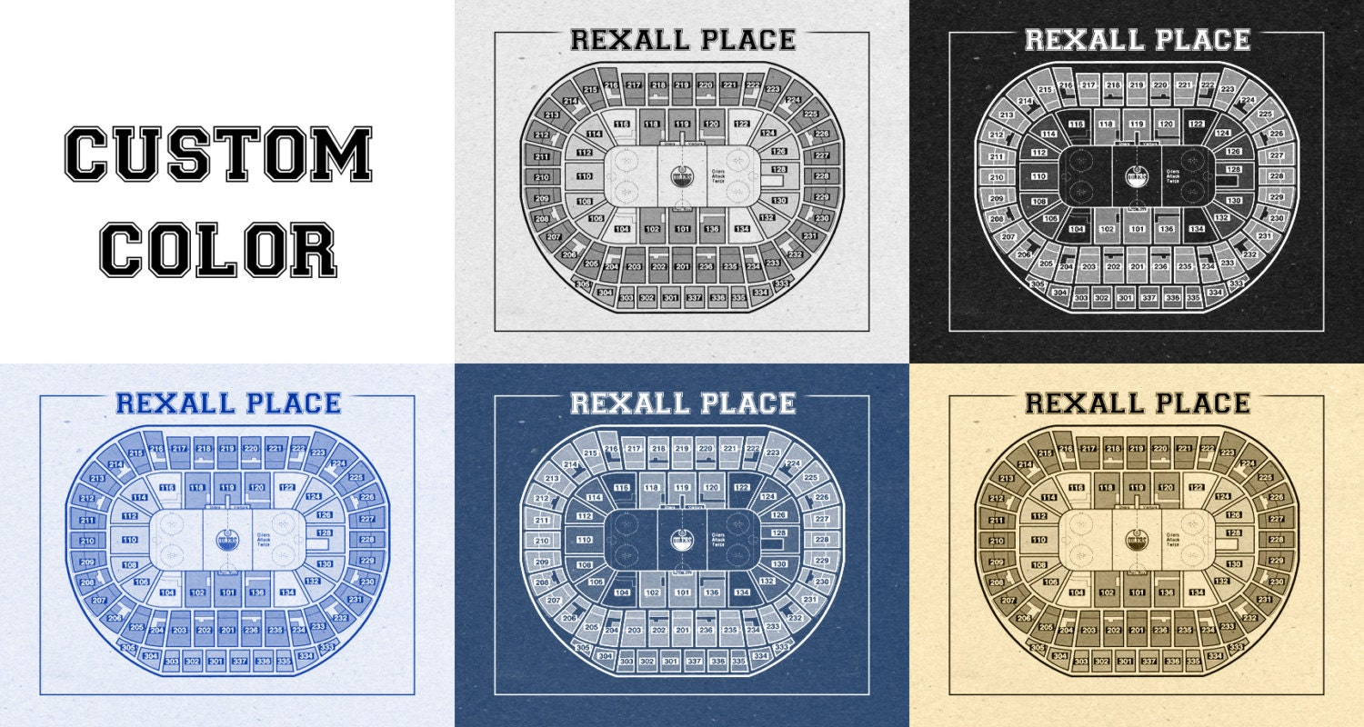 Vintage edmonton oilers rexall center on photo paper for 12x15 calculator
