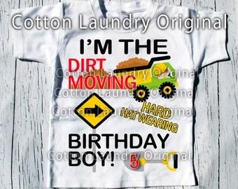 Construction birthday shirt construction birthday | party themed |birthday | shirt | baseball | short sleeve style;bulldozer