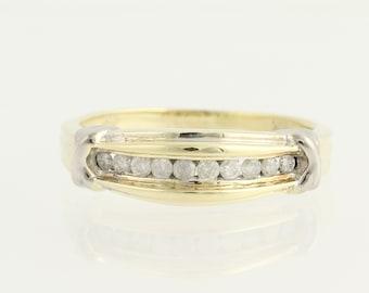 Diamond Anniversary Ring - 10k Yellow & White Gold Wedding .20ctw L9526