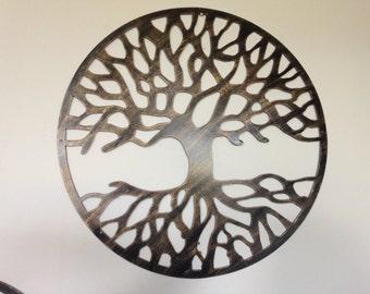 60 cm Tree Of Life, Metal Art - Antique Look new