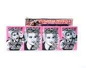 4 Cyndi Lauper Sticker & Trading Card Packs 1985