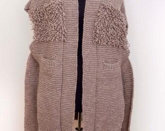 Knitted SWEATER ,  in Beige