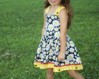 Tie  Back  Daisy  Dress ( 2T,  3T, 4T, 5, 6, 7, 8, 10)