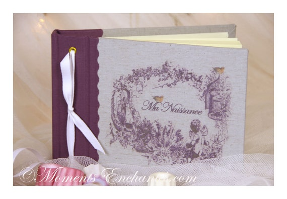 Note book Angel, secret book or guest book nine months with  Ma naissance