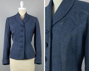 1940s Western Style Wool Blazer --> 1940s Suit Jacket --> 1940s Blazer --> 40s Blazer --> 40s Suit Jacket --> 1940 Blazer --> 1940s Clothing