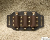 Leather vial holder to be put on a belt, for reenactment costume and LARP