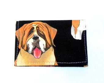Business Card Holder - Dogs in black, white and brown